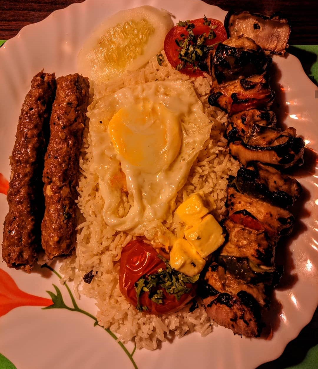Chelo Kebab Platter Take It Easy With Ishq S Kitchen